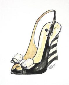 Custom Shoe Illustration