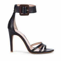Sole Society - Ankle strap heels - Eliza - Black Dark Brown