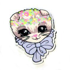 The Roxie Sweetheart Boutique - Cute, Kitsch and Kawaii Jewellery! Kawaii Jewelry, Creepy Cute, Cute Designs, Kitsch, Roxy, Blue Grey, Brooch, Illustration, Handmade
