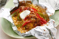 Foil-Pack Chicken Fajita Dinner