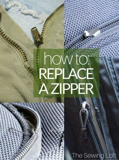 Sewing Techniques Couture Learn how to replace a zipper in this detailed tutorial by The Sewing Loft. Diy Sewing Projects, Sewing Projects For Beginners, Sewing Hacks, Sewing Tutorials, Sewing Patterns, Sewing Tips, Skirt Patterns, Dress Tutorials, Coat Patterns
