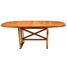 Italian Brass and Cherry Center Table | From a unique collection of antique and modern center tables at http://www.1stdibs.com/furniture/tables/center-tables/