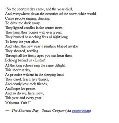 the shortest day -Susan cooper