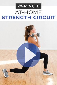 This dumbbell circuit workout consists of 16 strength training exercises - Sport interests Benefits Of Strength Training, Strength Training Workouts, Training Exercises, Weight Training, Body Workouts, Full Body Workout At Home, Home Workout Videos, Home Exercise Program, Workout Programs
