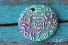 Doodlecraft: Damask Polymer Clay Pendants!