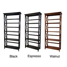 @Overstock.com - Montego 5-tier Bookcase - You'll have plenty of space for all your favorite books with this five-tier bookcase. Crafted from solid wood, this bookcase is built to last, and its three available finishes and intricate design make it as attractive as it is functional.  http://www.overstock.com/Home-Garden/Montego-5-tier-Bookcase/6345338/product.html?CID=214117 $99.99