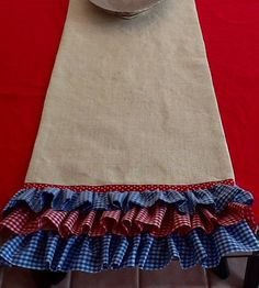 Ole Miss Burlap Ruffled Table Runner by RoundAboutDesigns on Etsy
