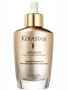 Kerastase InitialisteUsing this serum is a process (you divide damp hair into sections, apply it to roots, and comb it through), but it pays off. In a few weeks, even regularly flatironed hair looks healthier. The formula bulks up and conditions strands to better resist breakage, and absorbs without a trace of residue.