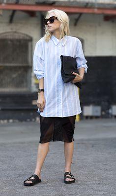 Equipment Blue Button Down Shirt Blogger Courtney Trop