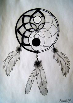 Ting Yang Dream Catcher tattoo idea.  Pretty cool