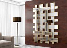 Miroir, mod: ALBI Feuille D'or, Divider, Shelves, Room, Furniture, Home Decor, Trellis, Contact Form, Gold Leaf