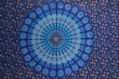 Blue Hippie Hippy Wall Hanging Indian by Rajasthancreations