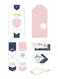 Packaging Ideas Discover Denim Swing tag & Label Denim Swing tag & Label by Anna Maja Czech via Behance Fashion Tag, Fashion Labels, Kids Branding, Branding Design, Denim Branding, Swing Tag Design, Price Tag Design, Kids Labels, Swing Tags