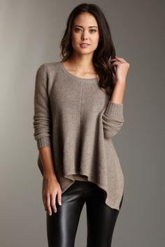 hem sweater, knit wit, cloth, fashion style, knit sweaters, zen, asymmetr hem, fall fashion, thick knit