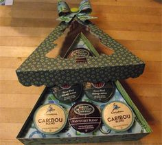 Project Center - K-Cup Coffee Gift Box - Christmas Tree Christmas Food Gifts, Christmas Paper Crafts, Christmas Tree, Christmas Ideas, Coffee Gift Baskets, Coffee Gifts, Craft Box, Craft Sale, K Cup Crafts