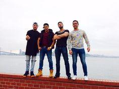 """http://www.acapulcoshore.tv/tag/los-chicos/ - Tadeo Fernández, Luis Alejandro""""Jawy"""" Méndez, Fernando Lozada & Luis Alfredo Caballero. San Francisco, 2014."""