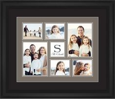 Classic Monogram Framed Print, Black, Classic, White, Black, Single piece, 16 x 20 inches, Brown