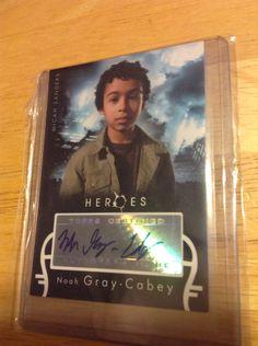 Noah Gray-Cabey Autographed Card Heroes Season 1