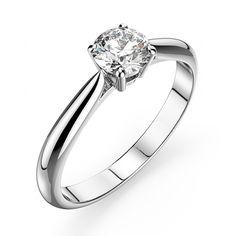 SOLIS est un solitaire 4 griffes en or 18 carats ou en platine 950 sertie d'un diamant .Vous avez la possibiliter de personaliser votre bague en choisissant votre pierre de couleur ou votre diamants selon vos envies , en prenant rendez vous a notre showroom ou en nous contactant par téléphone. [459,00€]