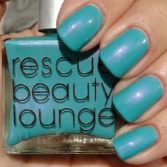 Rescue Beauty - Aqua Lily (by Kay-Di Kat). Buy here: http://www.rescuebeauty.com/nail-polish/aqua-lily-fan-coll.html