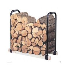 The Landmann Adjustable Wood Log Rack is made from strong tubular steel with a black weatherproof finish.