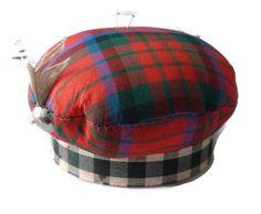 Tartan Plaid Pin Cushion Vintage Scottish by PopcornVintageByTann