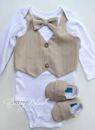 neutral suit vest and bow tie on little boy - Google Search