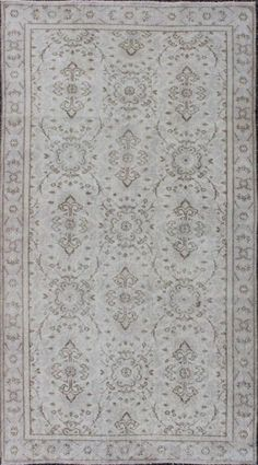 """KEIVAN WOVEN ARTS,    Type :Oushak Origin :Turkey  Size : 3'7""""x7'0""""  Circa :1940"""