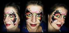 one-stroke butterly face painting