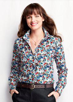 Floral Button Up Shirt Womens - Greek T Shirts