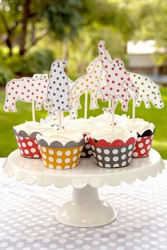 Vintage Polka Dot Zoo Party - Kara's Party Ideas - The Place for All Things Party