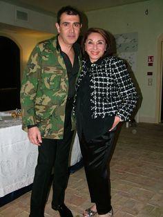 Michele Miglionico and journalist Mariella Milani