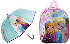 Disney Frozen Back Pack and Umbrella Set Real Disney Princesses, Kids Umbrellas, Disney Frozen, Little Girls, Packing, Princess Zelda, Backpacks, Feelings, Bags
