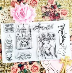 Growing Meadows Stamps for Bible Journaling! Hey, I found this really awesome Etsy listing at https://www.etsy.com/listing/570213876/beloved-princess-stamps-christian