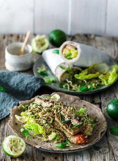 Delicious Vegan Recipes, Healthy Recipes, Healthy Food, Bio Vegan, Vegan Food, Bio Food, Vegan Wraps, Eat This, Cafe Food