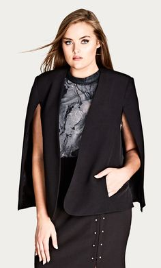 f894dc800e769 Style By Trend  Modern Marble by City Chic - SHARP CAPE JACKET citychic