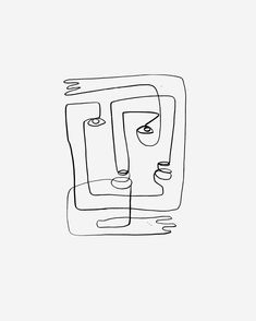 Abstract Face Art, Abstract Drawings, Minimalist Drawing, Minimalist Art, Minimal Drawings, Easy Drawings, Art Abstrait Ligne, Family First Tattoo, Face Line Drawing