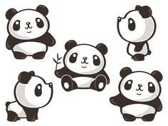 Five Poses Of Panda by Toru Sanogawa