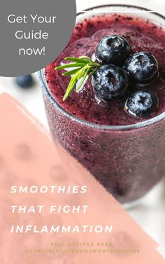 Endometriosis relief can be accomplished by adding a smoothie packed with nutrients daily. By using organic fruits, vegetables, and jucies. Foods For Clear Skin, Foods For Healthy Skin, Fit Foods, Healthy Food To Lose Weight, Healthy Smoothies, Eating Healthy, How To Stay Healthy, Anti Inflammatory Smoothie, Anti Inflammatory Recipes