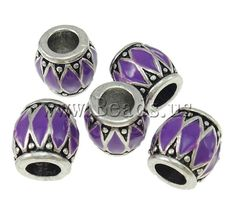 Zinc Alloy European Beads,  for jewelry making  http://www.beads.us/product/Zinc-Alloy-European-Beads_p69420.html