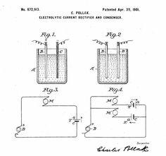 Electrolytic Capacitor, Patent Drawing, Technical Drawing, Tools, History, Drawings, Art, Art Background, Kunst