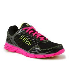 innovative design 43321 2b9f8 Another great find on  zulily! Black  amp  Neon Pink Memory Fresh Running  Shoe