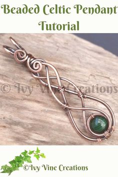 Celtic Wire Jewelry, Wire Jewelry Making, Wire Weaving Tutorial, Wire Jewelry Designs, Diy Jewelry Inspiration, Wire Wrapped Earrings, Wire Wrapped Stones, Wire Wrapped Pendant, Beads And Wire
