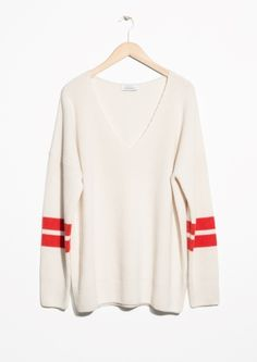 & Other Stories | Stripe Sleeve Sweater