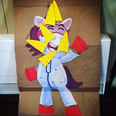 Pin the horn on Ubercorn #recycle&reuse #gojettersparty