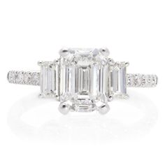 View our broad range of exclusive engagement rings online or in-store in Cape Town, South Africa. Emerald Cut Diamonds, Diamond Cuts, Commitment Rings, Diamond Rings For Sale, 18k Gold, White Gold, Jewels, Engagement Rings, Silver