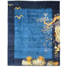 Chinese Art Deco Square | From a unique collection of antique and modern chinese and east asian rugs at http://www.1stdibs.com/furniture/rugs-carpets/chinese-rugs/