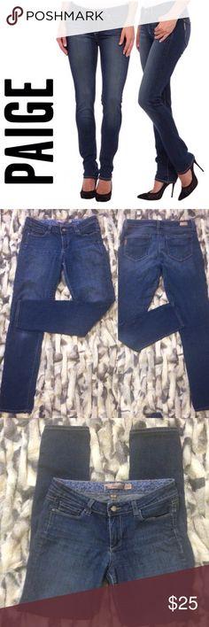 "Paige Skyline Skinny Jeans Paige Skyline Skinny Jeans 👖...size 28...Inseam 30"" Leg opening 5"" Waist flat across 14"" Rise 10"" Paige Jeans Jeans Skinny"