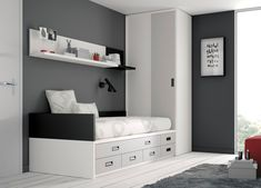 Children's bedroom furniture set - All architecture and design manufacturers - Videos Childrens Bedroom Furniture, Bedroom Furniture Sets, Bathroom Furniture, Home Interior, Interior Design, Boys Room Design, Minimalist Room, Small Room Bedroom, Room Accessories