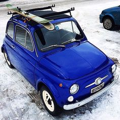 Fiat 500 in the snow - Exotic Cars Fiat 500c, Fiat Cinquecento, Fiat Abarth, Vespa, Turin, Minis, Automobile, New Fiat, Fiat Uno